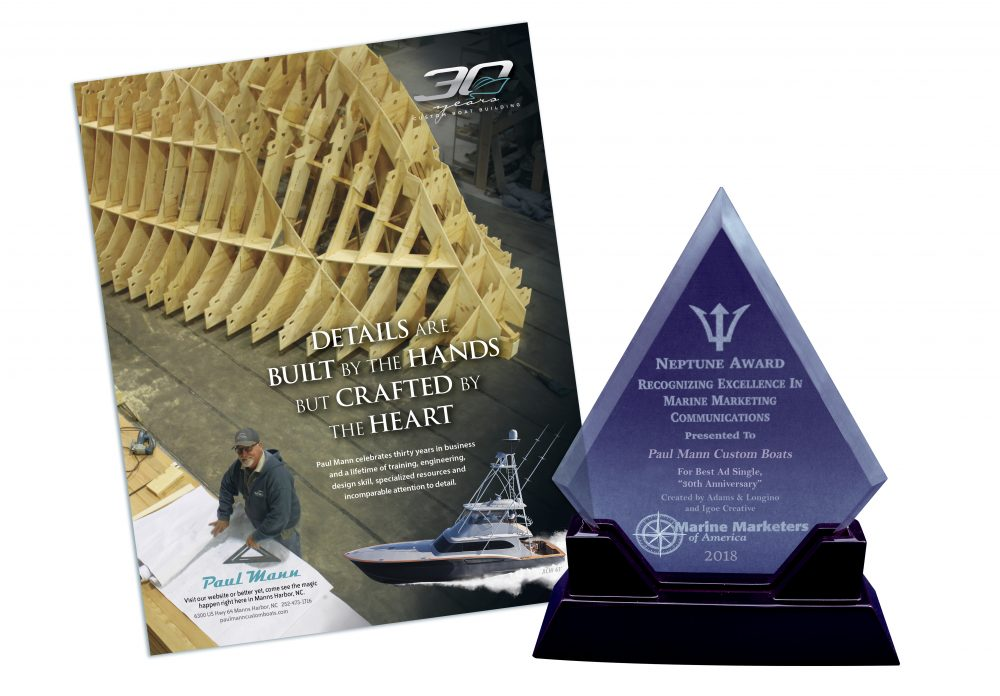 Award – Paul Mann Custom Boats